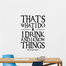 Game Of Thrones Quote Wall Decal Tyrion Lannister Vinyl Sticker Decor Art 80quo