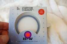 B+W 58mm UV-Haze MRC 010M with Multi-Coating Resistant Filter Made in Germany