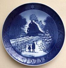 Royal Copenhagen Denmark 1973 Blue Plate Going Home For Christmas