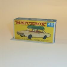 Matchbox Lesney 45 b Ford Corsair with Boat 45 empty Repro F style Box