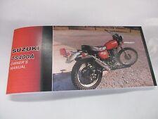 Suzuki TS400 owners manual 1976    TS400A