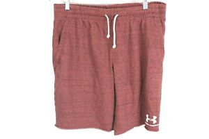Under Armour Men's Sportstyle Terry Shorts Maroon Size XL