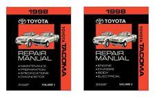 1998 Toyota Tacoma OEM Shop Service Repair Manual Book Set Volume 1 & 2