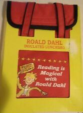 Insulated School Lunch Bag Box with Roald Dahl Book Characters Keeps Food Cold