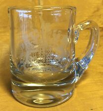 Rare 1952-1977 Queen Elizabeth II Silver Jubilee Etched Glass Mug w Coat-of-Arms