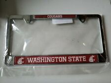 Washington State Cougars License Plate