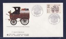 enveloppe 1er jour   journée du timbre   de carnet   01  Belley     1988
