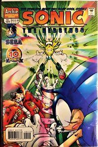 SONIC The HEDGEHOG Comic Book #101 November 2001 SEGA DATA FILES Bagged NM-
