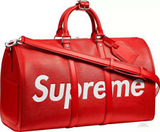 17  X Duffle Bag PU Travel bag Red Waterproof Soft Handbag Suitcases