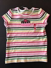 Gymboree NWT TEA FOR TWO Stripe Cake Tee Top Shirt Pink Brown Yellow Green 8