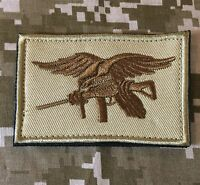 NAVY SEAL TEAM TRIDENT EAGLE MORALE USA DESERT PATCH WITH VELCRO® BRAND FASTENER