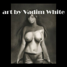 original pencil drawing sketch art picture painting nude woman fantasy warrior
