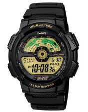 Casio Watch * AE1100W-1BV World Map Black & Gold Resin Ivanandsophia COD PayPal