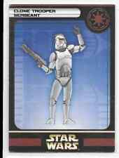 2004 Star Wars Miniatures Clone Trooper Sergeant Stat Card Only Swm Mini