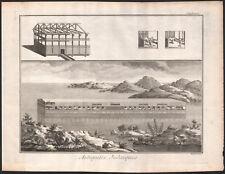 1770 Rare grande gravure Arche de Noé Encyclopédie Diderot judaïsme Noah's Ark