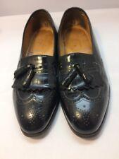 Mens Black Johnston & Murphy Optima Kiltie Tassel Wingtip SlipOn Dress Shoes-13D
