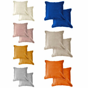 Emma Barclay Chelsea Velvet Soft Touch Piped Cushion Cover