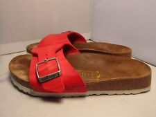 Birkenstock Papillio Madrid Womens 36 / 5 Red Birko Single Strap Sandals Slides