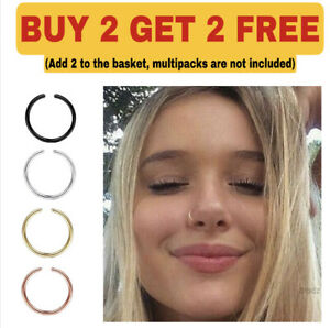 Nose Ring Surgical Steel Hoop Lip Ear Face Septum Helix Small Body Piercing