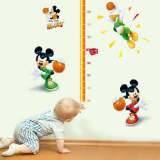 Mickey Mouse Donald Duck Slam Dunk Height Chart Boys Wall Stickers Nursery Decor