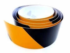 "2"" x 70"" Black & Yellow Safety Stripe, Reflective, Caution, Warning Tape USA"