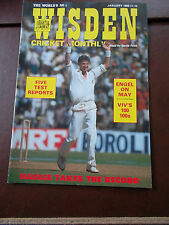 WISDEN CRICKET MONTHLY MAGAZINE JAN 1989 ENGEL ON MAY VIV'S 100 100s TESTS