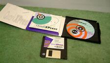 Vintage Quark Xpress MAC Software ver 3.32 on 3.5 inch flpppy & CD