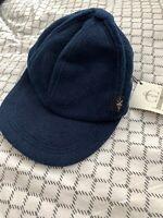 NEW Calvin Klein CK Navy Fleece Soft Baseball Cap Hat Unisex Small Sports Blue