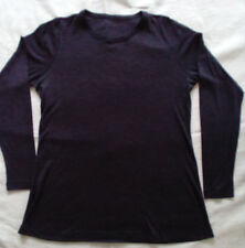 Tunika Shirt - Ripp Jersey Wolle - dehnbar! - anthrazit - Lagenlook - Neuwertig