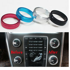 4pcs Air Conditioning Button Volume Knob Cover Sticker Fit For Volvo S60 V60