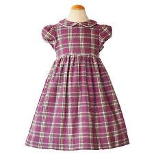 Bella Bliss Girls Pink Plaid Dress New Size 4