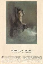 """"""" PARIS QUI PASSE / DESSIN CHAHINE """" ADP PAR FRANCIS CARCO 1933"""
