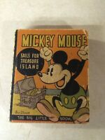 MICKEY MOUSE BIG LITTLE BOOK BLB --- RARE KOLYNOS DENTAL, 1935 TREASURE ISLAND