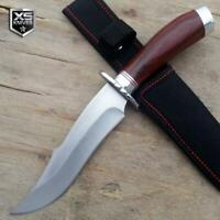 SURVIVAL Hunting Tactical BOWIE Cherry Wood Fixed Blade Knife COMBAT + Sheath