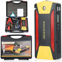 82800mAh 4 USB Car Jump Starter Pack Booster Battery Charger Power Bank 600A UK