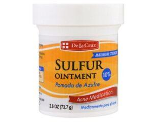 De La Cruz, Sulfur Ointment, Acne Medication, Maximum Strength, 2.6 oz 73.7 g I
