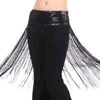 US NEW Dancing Dancing Belly Dance Hip Skirt Scarf Wrap sequins Fringe Tassel