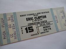 ERIC CLAPTON Original 1976__UNUSED CONCERT TICKET__Dallas,TX__EX++