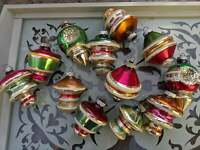12 Vintage Shiny Brite Christmas Ornaments in Original Box *See Description*