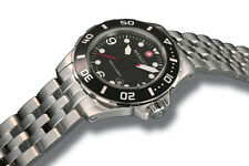 Wenger 1000m Aquagraph Deep Diver - Stainless Steel  Black Dial Date 72236