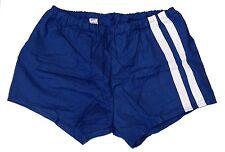 Vintage 1980s Ex-Army Shorts navy blue white stripes hot pants retro sports NEW