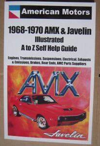 AMC AMX Javelin Self Help Book 1968 1969 1970 limited production