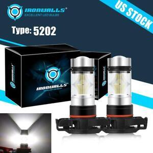 5202 LED Fog Light Bulb for GMC Sierra 1500 2007-15 Yukon XL 07-13 6000K