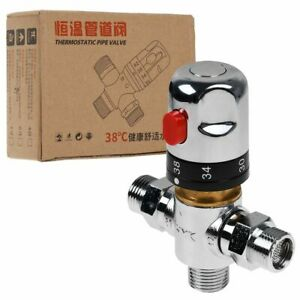 Water Thermostatic Mixing Valve Temperature Control for Douche Kit Basin Shower