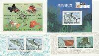 4 Blocks Fische Korea gestempelt 384