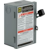 Square D 30-Amp 2-Pole Fusible Light-Duty Safety Switch Disconnect Electrical