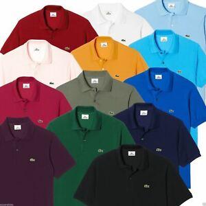 Lacoste Men's L1212 Polo Shirt Cotton Classic Fit - All Colours - Size 3 4 5 6 7