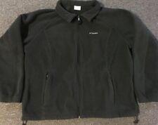 Vtg 90s Columbia Fleece Jacket 3X 3XL Black Polo Sport Outdoors Climbing Sailing