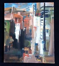 "Marjorie Cathcart painting ""View From Nob Hill - San Francisco"" ~ Mid Century"