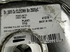 Southwire 55308 18/8C 18awg 8 Conductor Solid Thermostat HVAC Cable Brown /50ft